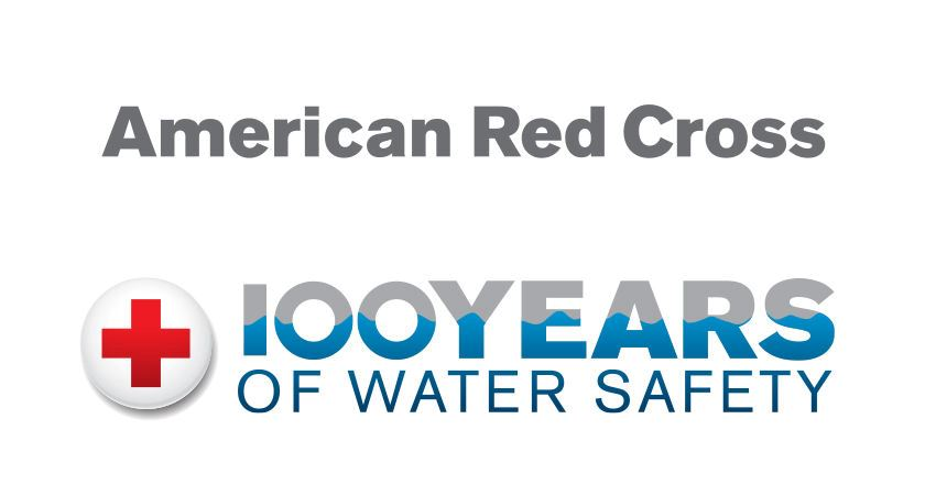 Aquatics Centennial Logo with ARC Wordmark Color